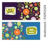 paraben free horizontal flyers... | Shutterstock .eps vector #532921624