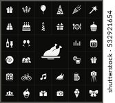 grill icon. birthday icons... | Shutterstock . vector #532921654