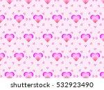 unique pink love heart pattern...   Shutterstock .eps vector #532923490