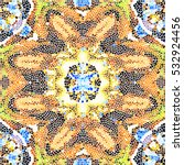 mosaic colorful artistic... | Shutterstock . vector #532924456