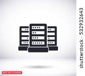 computer server. vector icon | Shutterstock .eps vector #532932643