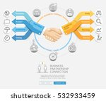 business partnership connection ... | Shutterstock .eps vector #532933459