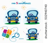 find 5 differences. cartoon... | Shutterstock .eps vector #532940740