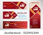 ambulance icon on vector... | Shutterstock .eps vector #532941544