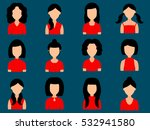 avatars girls with different... | Shutterstock .eps vector #532941580