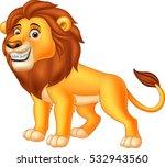 happy lion animal | Shutterstock .eps vector #532943560
