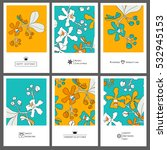 floral set card with orchids. | Shutterstock .eps vector #532945153
