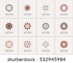 geometric logo template set.... | Shutterstock .eps vector #532945984