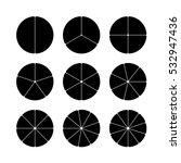 circle segments set. various... | Shutterstock .eps vector #532947436