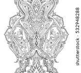 india seamless paisley pattern  ... | Shutterstock .eps vector #532948288