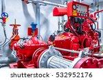 diesel generator for fire... | Shutterstock . vector #532952176