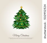 christmas celebrating banner.... | Shutterstock .eps vector #532952524