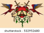 vector illustration of heart... | Shutterstock .eps vector #532952680
