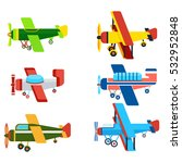 vintage airplanes cartoon... | Shutterstock .eps vector #532952848