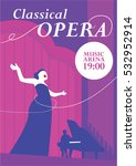 classical opera poster. opera... | Shutterstock .eps vector #532952914