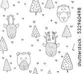scandinavian seamless pattern... | Shutterstock .eps vector #532960498