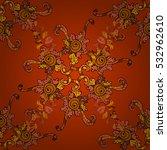 hand drawn tribal ethnic... | Shutterstock .eps vector #532962610