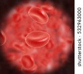 red blood cell flowing in vein... | Shutterstock . vector #532963000