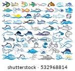 logos fish.  | Shutterstock .eps vector #532968814