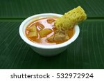roti jala and chicken curry  ... | Shutterstock . vector #532972924