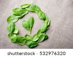 Fresh Baby Spinach Leaves On...