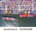 container container ship in... | Shutterstock . vector #532983088