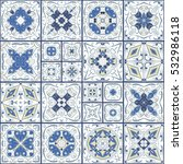 a collection of ceramic tiles... | Shutterstock .eps vector #532986118