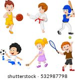 kids engaged in different... | Shutterstock .eps vector #532987798