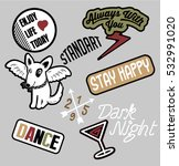 fashion patch designs.vector | Shutterstock .eps vector #532991020