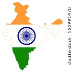 vector map india country on... | Shutterstock .eps vector #532991470