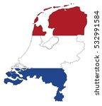 vector map netherland country... | Shutterstock .eps vector #532991584