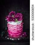 Small photo of Cake with fondant frills