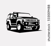 modern suv logo template ... | Shutterstock .eps vector #533009488