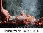 handle knife cut on the grill... | Shutterstock . vector #533013418