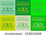 christmas set of 6 cards.... | Shutterstock .eps vector #533015608