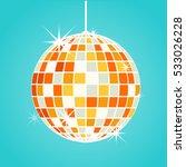 disco ball vector | Shutterstock .eps vector #533026228