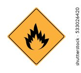 warning flammable sign. | Shutterstock .eps vector #533026420