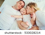 happy family. mother  father... | Shutterstock . vector #533028214