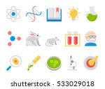 science and research flat icons | Shutterstock .eps vector #533029018