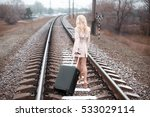 Girl For A Train Rails In...