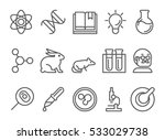 science and research line flat... | Shutterstock .eps vector #533029738