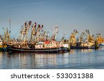 fisherboats at the harbor at a... | Shutterstock . vector #533031388