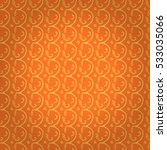 warm orange geometric seamless... | Shutterstock .eps vector #533035066