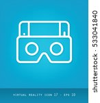 virtual reality icons series ... | Shutterstock .eps vector #533041840