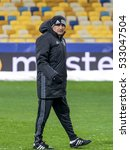 Small photo of KIEV, UKRAINE: December 5, 2016: Senol Gunes at Besiktas training session before UEFA Champions League game against FC Dynamo Kiev at NAC Olimpiyskyi stadium