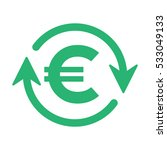 euro turnover icon  vector... | Shutterstock .eps vector #533049133
