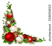 vector christmas decorative... | Shutterstock .eps vector #533054023
