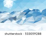 polygonal landscape winter... | Shutterstock .eps vector #533059288