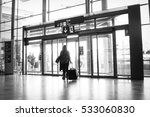 an airline passenger exiting an ... | Shutterstock . vector #533060830