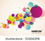 decorative colorful circles | Shutterstock .eps vector #53306398